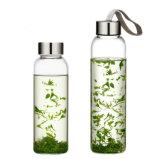 550ml vidro garrafa de água potável portátil garrafa de água mineral (DC-QDG-2-550)