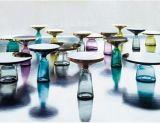Kundenspezifische Möbel kleiner des Tee-Tisch-nordischer Entwurfs-Innenglastee-Tisch-Bell-Tisch-FRP (M-X3741)