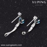 91958の方法優雅なCZのダイヤモンドロジウム-めっきされた模造宝石類のイヤリングHuggie
