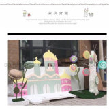 Fenster-Bildschirmanzeige Props süsse Macarons Dekorationen für Einkaufszentrum-Kind-Kleidung-Kindergarten