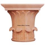 Tempiale rotondo pieno intagliato legno dei venti Cap-Fr-05 capitale