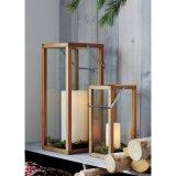Linternas de interior y al aire libre de madera de roble