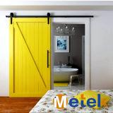 Style de la grange de l'intérieur de porte coulissante en bois du matériel de conception de la porte principale de l'acier