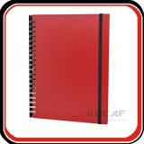 Deslize o notebook de PU espiralado