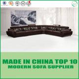 Sofa moderne de cuir de meubles de salle de séjour de L-Forme de grossistes