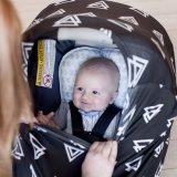 삼각형 아기 신축성이 있는 Carseat 까만 덮개 모유로 기르는 간호 덮개