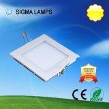 시그마 주거 둥근 정연한 호리호리한 중단된 표면에 의하여 거치되는 천장 Lampada Bombillas Foco Luz De Panel LED