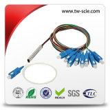 divisore ottico della fibra del PLC 1X8 con i connettori monomodali di Sc/Upc