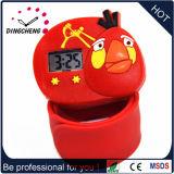 Reloj material de los cabritos del regalo de la palmada de la pantalla del silicio LED para la promoción