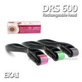 Terapia de Microneedle da agulha do rolo afastamento cilindro/rolo 600 de Derma do cuidado de pele para a face