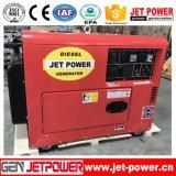 Puissance moteur portable 7kVA Groupe électrogène Diesel silencieux