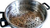 Elettrodomestico multiuso dell'acciaio inossidabile dei due livelli due strati del vapore elettrico