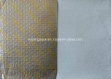 Couleur jaune coussin imprimé la feuille de papier personnalisé