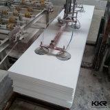 工場価格の白い固体表面のカウンタートップの平板