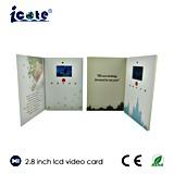 여행 광고를 위한 2.8 인치 LCD 영상 브로셔