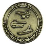 Moneda de encargo del latón de la antigüedad del metal del aeroplano 3D de la alta calidad al por mayor