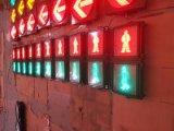 Colores dobles IP65 rojos y semáforo peatonal del LED/señal de tráfico verdes