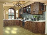 O novo modelo de venda quente Austrália Bespoke Custom Walnut armário de cozinha moderna