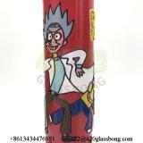Rick-und Morty 7mm Stärken-Glasbecher-rauchendes Wasser-Glasrohr mit Handzeichnung