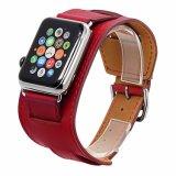 Bande de montre de bracelet de cuir véritable de bande de manchette pour la courroie d'Iwatch