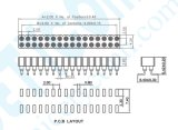 Factory 2.0 mm SMT filas Dual Socket IC PPS+30%G. F