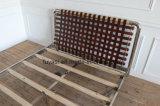 포도 수확 브라운 색깔 가죽끈 침대 머리 Stailess 강철 침대