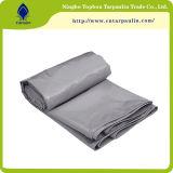 tela incatramata impermeabile grigia del coperchio del crogiolo di PVC di colore grigio 550GSM