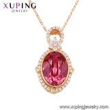 43170 Xuping últimas joyas Collar Colgante de oro con cristales de Swarovski