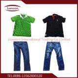 Der Gebrauch der verwendeten Kleidung für den Export