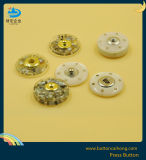 고품질 의복을%s 금속을%s 가진 염색 폴리에스테 압박 스냅 단추