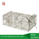 Le petit animal de trappe de loquet sous tension humanitaire en métal accumule la cage de rat de souris