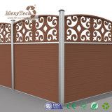 El estilo chino talla la cerca de aluminio de cercado compuesta del diseño con los paneles de WPC