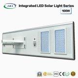 Tudo-em-um LED Solar Luz Rua 100W