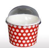 Tapa plástica de café de la bóveda disponible de la taza con el canalón