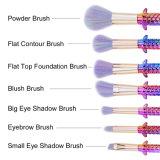 l'insieme di spazzole di trucco dell'orlo dell'occhio di profilo dell'ombretto del fondamento della sirena 7PCS, fibra sintetica Crudeltà-Libera rizza le spazzole di trucco