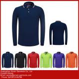 Long constructeur de chemises de polo de polyester de coton de bonne qualité de chemise (P49)