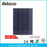 4.2W 18V DIYの太陽電池の多結晶性ペット+太陽系のためのエヴァによって薄板にされる小型太陽電池パネル