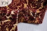 2016 Padrão Folwer bruscos 100% de poliéster para tecidos de sofá (FTH32051)