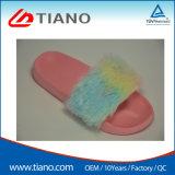 Suela de EVA Fur zapatillas de felpa para damas