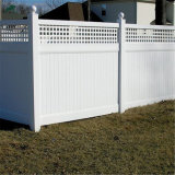 Jardin de la vie privée de vinyle clôture avec haut Lattice