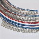 Fil d'acier transparent en PVC flexible renforcé en spirale