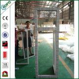 Guichet de spire d'inclinaison de PVC de verre trempé de guichet d'UPVC