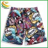 4 Shorts della scheda del tessuto di modo, Shorts stampati della spiaggia di disegno per l'uomo