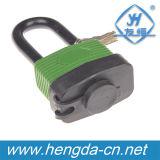A tampa plástica Dustyproof de Yh9109 40mm laminou o cadeado do ferro com chaves