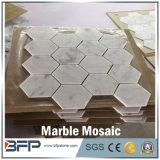 De het recentste Hete Hexagon Witte Marmeren Mozaïek van de Stijl en Tegels van het Mozaïek
