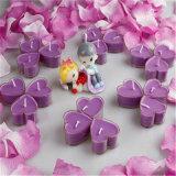 Vela púrpura de Rometic Tealight con dimensión de una variable del corazón