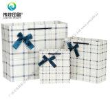 새해 동안 주문 고품질 격자 무늬 종이 선물 포장 부대