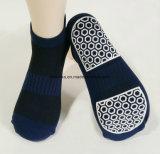 Neuer Entwurfs-Gleitschutzsocken-Männer, kundenspezifische Trampoline-Socken
