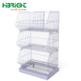 Cable de metal plegable pequeña jaula de almacenamiento para la venta