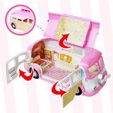 Mini fingir brinquedo ajustado do carro de jantar das crianças da cozinha do jogo